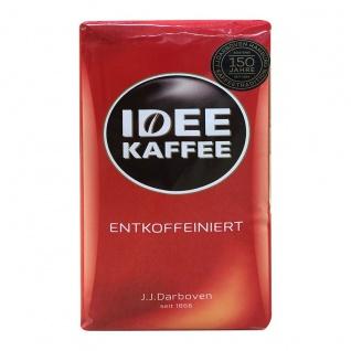 IDEE Kaffee edler aromatischer entkoffeinierter gemahlen 500g