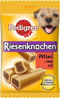 Pedigree Riesenknochen Mini mit Rind gesunder Kau Snack 4 Stück
