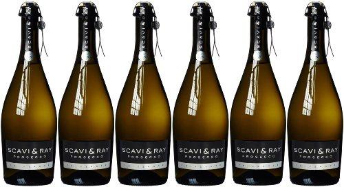 Scavi & Ray Prosecco Frizzante DOC fruchtig-frisch trocken 750ml 6er Pack