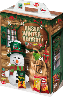 Intersnack Adventskalender Classic in kleinen Portionsbeuteln 790g