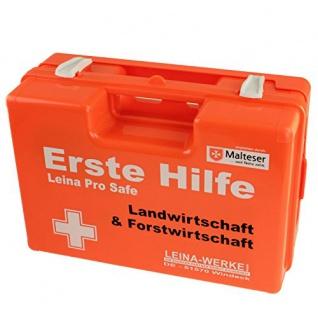 Erste Hilfe Koffer Leina Pro Safe Forstwirtschaft DIN 13157 Inhalt DIN 13157 mit branchenspezifischer Zusatzaustattung