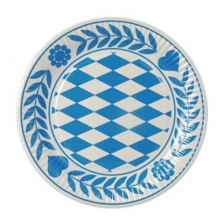 Einwegteller bayrisch blau im Stil vom Oktoberfest Papstar 100 Stück