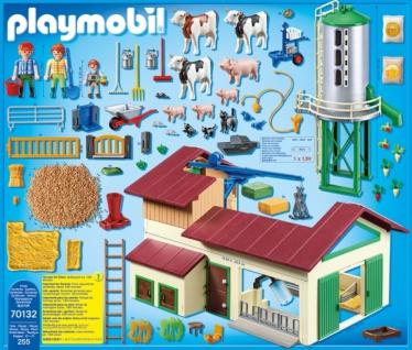 Playmobil Country Großer Bauernhof mit Silo Konstuktionsspiel 70132