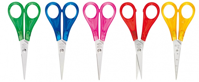 WEDO Bastelschere Kinderschere spitz farbig sortiert Kunststoff 13cm