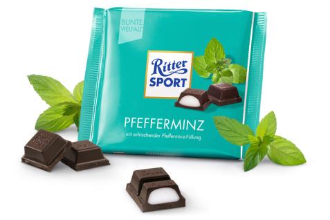 Ritter Sport Pfefferminz mit erfrischender Pfefferminzfüllung 100g
