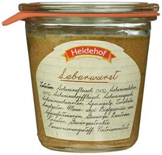 Heidehof Leberwurst im Weckglas, 6er Pack (6 x 200 g)