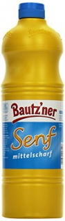 BAUTZ'NER Mittelscharfer Senf, 4er Pack (4 x 1 l)