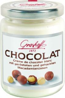 Grashoff Weiße Schokoladencreme mit gerösteten Macadamianüssen, 3 x 235 g