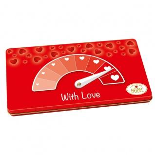 Heidel Liebes Barometer mit 9 einzelnen Täfelchen Schokolade 90g