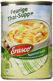 Erasco Feurige Thai -Suppe 390ml, 3er Pack ohne Zusatzstoffe