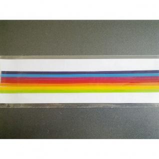 Meyco Wachs Verzierstreifen in Regenbogen farben für Kerzen 14 Stück