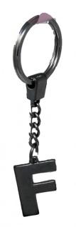 Schlüsselanhänger Taschenanhänger Buchstabenform F in silber