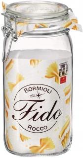 Drahtbügelglas Fido eckig mit Gummiring und Bügelverschluß 1500ml