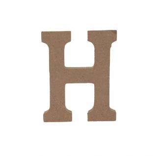 Bastelbuchstabe H Holzbuchstabe zum basteln Buchstabe aus Holz
