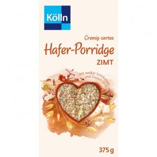 Kölln Cremig zartes Hafer Porridge weiße Schokolade und Zimt 375g
