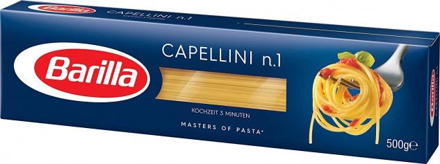 Barilla Nudeln Capellini Nummer 1 Hartweizengrießnudeln 500g