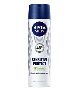 Nivea Men Deo Sensitive Protect Spray, Antitranspirant, 6er Pack (6 x 150 ml)