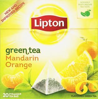 Lipton Green Tea Mandarin Orange Pyramidenbeutel