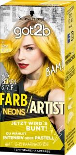 SCHWARZKOPF GOT2B Farb/Artist Neon Gelb 107 Stufe 1 80ml