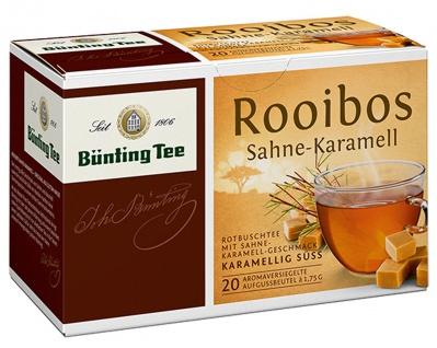 Bünting Tee Rooibos Sahne Karamell karamellig Süss 12er Pack