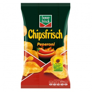Funny frisch Chipsfrisch Peperoni pikant feuriger Genuss 175g