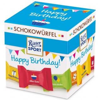 Ritter Sport Schokowürfel Box Happy Birthday zum verschenken 100g