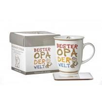 Ritzenhoff und Breker Kaffeebecher mit Geschenkebox Bester Opa