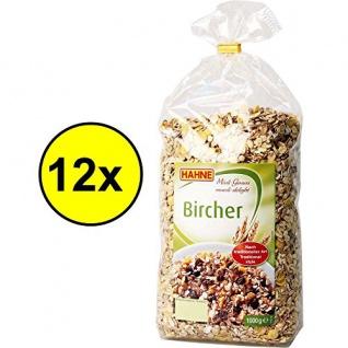 Hahne Bircher Müsli VPE (12x1kg Packung)
