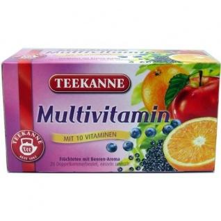 Teekanne Multivitamin mit 10 Vitaminen aus erlesenen Früchten 60g 20 Beutel