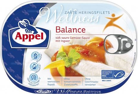 Appel Heringsfilets Wellness Balance mit würzigem Ingwer 200g