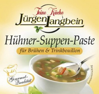 Jürgen Langbein Hühner Suppen Paste mit Hühnerfleisch 50g 10er Pack