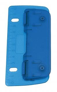 Wedo 67803 Taschenlocher (Kunststoff zum Abheften für 8 cm Lochung, 2f ach, mit 12 cm Skala) blau