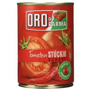 Oro di Parma geschälte stückige Tomaten scharf, 400g