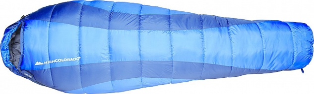 Schlafsack High Colorado Condor L königsblau Reißverschluss links