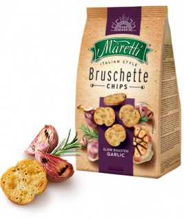 Maretti Bruschette Slow Roasted Garlic Brotchips mit geröstetem Knoblauch 150g