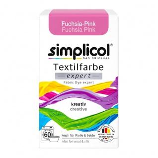 Simplicol Textilfarbe expert für kreatives Färben in Fuchsia Pink