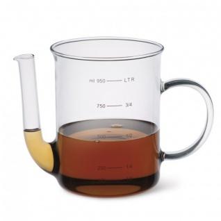 Simax Fetttrenner mit Henkel Borosilikatglas Fettabschöpfer 1.0l
