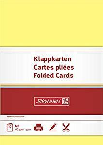 Doppelkarten Gelb A6 160G