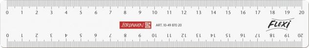 Baier und Schneider Lineal Zeichenlinial Flexi glasklar 20cm