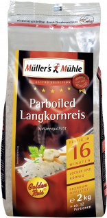 Müllers Mühle Parboiled Langkorn Reis Gastro Selection 2000g