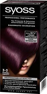 Syoss Professional Performance Coloration, 3-3 Dunkelviolett, 5er Pack