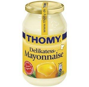 Thomy Delikatess-Mayonnaise, mit reinem Sonnenblumenöl, 500 ml Glas