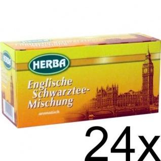 Herba Englische Schwarztee Mischung aromatisch 20 Beutel 24er Pack