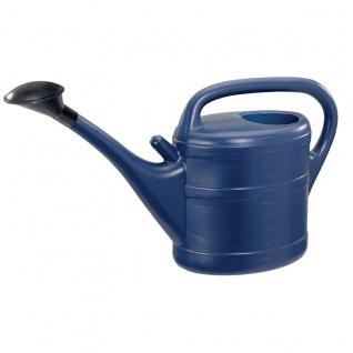 Gießkanne 10 l blau Aufsteckbrausekopf aus hochwertigem Kunststoff