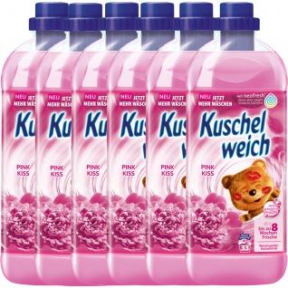 Kuschelweich Weichspüler Pink Kiss ergibt 33 Waschladungen 1L 6er Pack