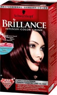 Schwarzkopf Brillance Intensiv-Color-Creme Stufe 3, 896 Schwarzrot