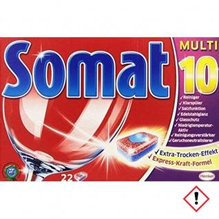 Somat 10 Tabs Geschirrspültabs Extra Kraft M Glasschutz 22 Tabs