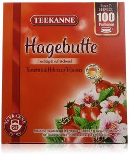Teekanne Hagebutte fruchtig erfrischend mit Hibiskus 100 Portionen