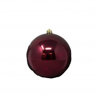Weihnachtskugel Christbaumkugel bordeaux glänzend Aufhänger 14cm