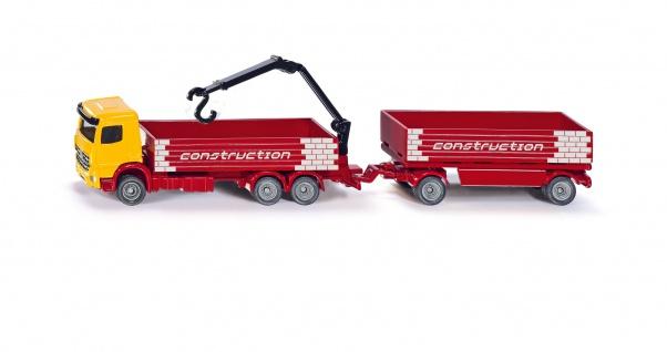 SIKU Baustoff LKW mit Anhaenger